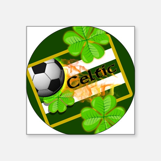 "celtic-football-3-in-button Square Sticker 3"" x 3"""