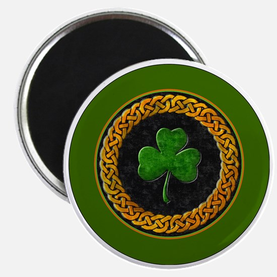 CELTIC-SHAMROCK-3-INCH-BUTTON Magnet