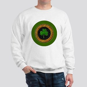 CELTIC-SHAMROCK-3-INCH-BUTTON Sweatshirt