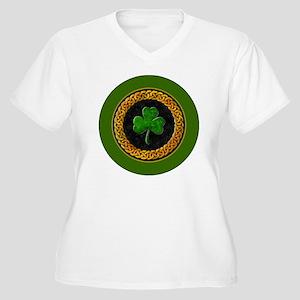 CELTIC-SHAMROCK-3 Women's Plus Size V-Neck T-Shirt