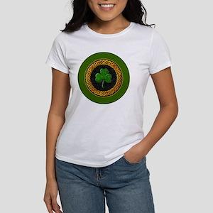 CELTIC-SHAMROCK-3-INCH-BUTTON Women's T-Shirt