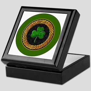 CELTIC-SHAMROCK-3-INCH-BUTTON Keepsake Box