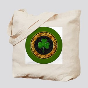 CELTIC-SHAMROCK-3-INCH-BUTTON Tote Bag