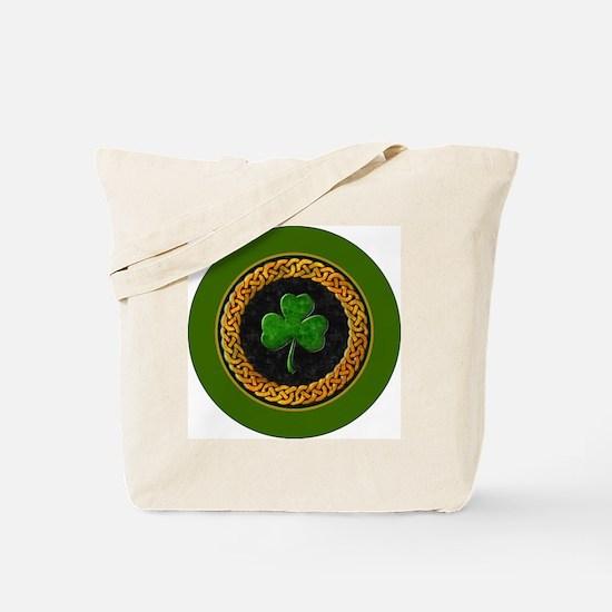 CELTIC-SHAMROCK-3-INCH-BUTTON Tote Bag