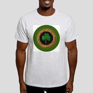 CELTIC-SHAMROCK-3-INCH-BUTTON Light T-Shirt