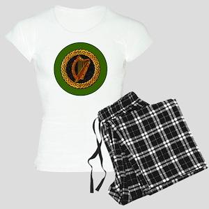 CELTIC-HARP-3-INCH-BUTTON Women's Light Pajamas