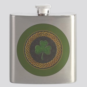 CELTIC-SHAMROCK-3-INCH-BUTTON Flask