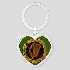 CELTIC-HARP-3-INCH-BUTTON Heart Keychain