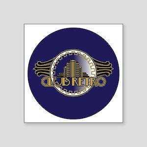 """CLUB-RETRO-3-INCH-BUTTON Square Sticker 3"""" x 3"""""""