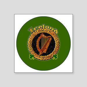 """CELTIC-IRELAND-3-INCH-BUTTO Square Sticker 3"""" x 3"""""""
