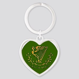 ERIN-GO-BRAGH-3-INCH-BUTTON Heart Keychain