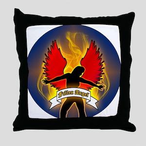 FALLEN-ANGEL-3-INCH-BUTTON Throw Pillow