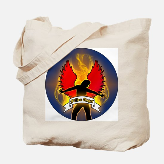 FALLEN-ANGEL-3-INCH-BUTTON Tote Bag