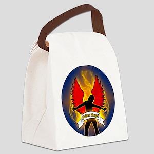 FALLEN-ANGEL-3-INCH-BUTTON Canvas Lunch Bag