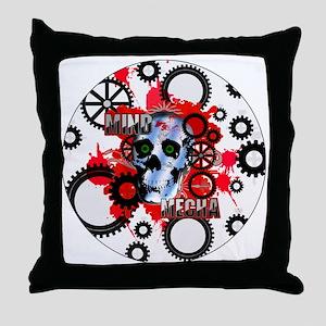 MIND-MECHA-3-INCH-BUTTON Throw Pillow