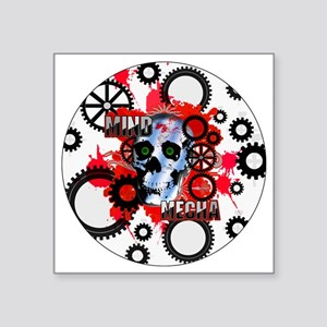 "MIND-MECHA-3-INCH-BUTTON Square Sticker 3"" x 3"""