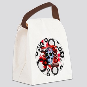 MIND-MECHA-3-INCH-BUTTON Canvas Lunch Bag