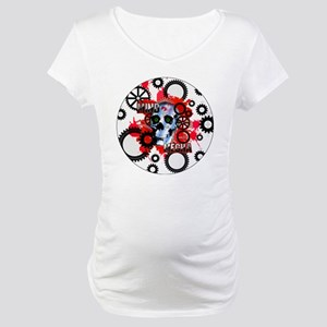 MIND-MECHA-3-INCH-BUTTON Maternity T-Shirt