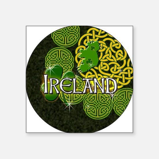 """ireland-3-inch-button Square Sticker 3"""" x 3"""""""
