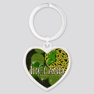 ireland-3-inch-button Heart Keychain