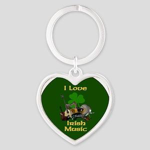 irish-music-3-in-button Heart Keychain