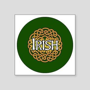 """irish-celtic-3-in-button Square Sticker 3"""" x 3"""""""
