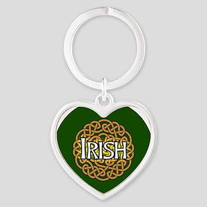 irish-celtic-3-in-button Heart Keychain