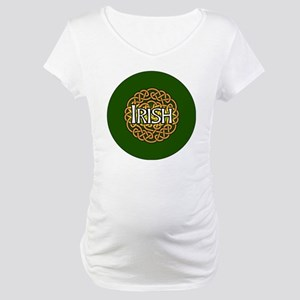 irish-celtic-3-in-button Maternity T-Shirt