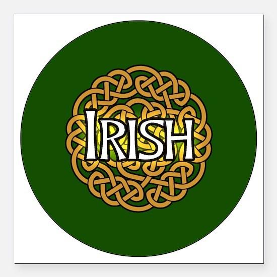 "irish-celtic-3-in-button Square Car Magnet 3"" x 3"""