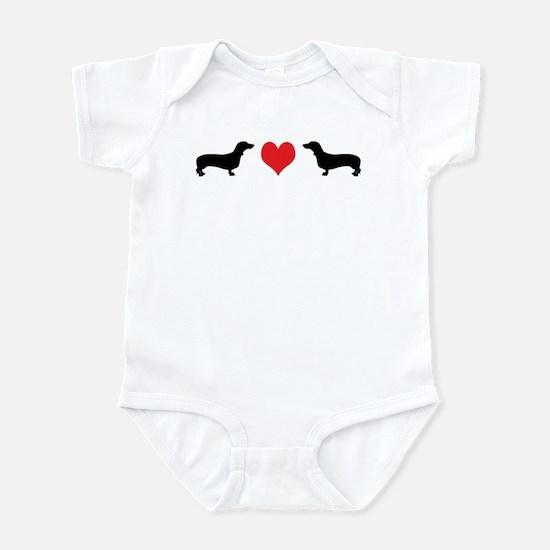Dachshunds & Heart Infant Bodysuit