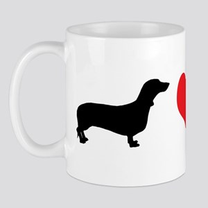Dachshunds & Heart Mug