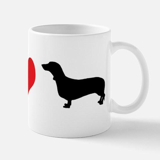 Dachshunds & Heart Mug