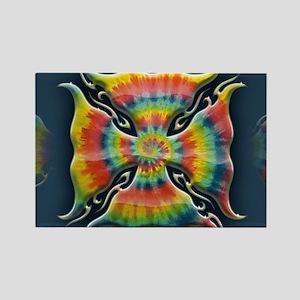 maltese-tie-dye-OV Rectangle Magnet