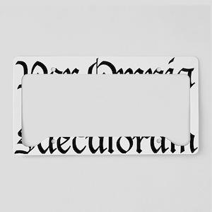 Per_Omnia_Saecula_Saeculorum License Plate Holder
