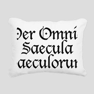 Per_Omnia_Saecula_Saecul Rectangular Canvas Pillow