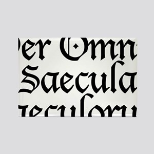 Per_Omnia_Saecula_Saeculorum Rectangle Magnet