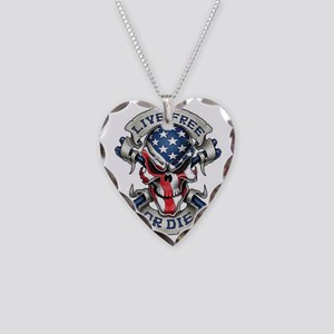 Live free Necklace Heart Charm