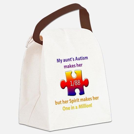 1inMillionlight-aunt-new Canvas Lunch Bag