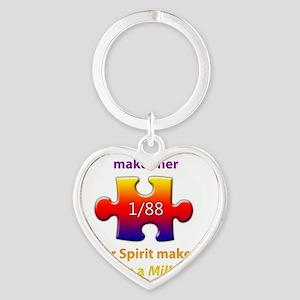 1inMillionlight-aunt-new Heart Keychain