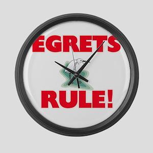Egrets Rule! Large Wall Clock