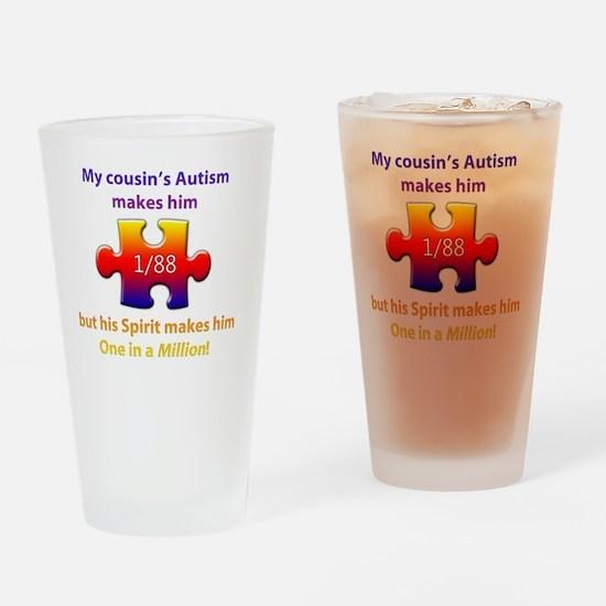 1inMillionlight-cousin-boy-new Drinking Glass
