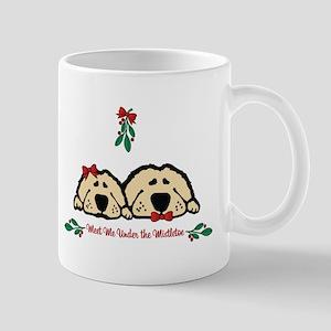 Meet Me Under the Mistletoe Dogs Mugs