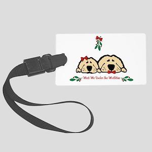 Meet Me Under the Mistletoe Dogs Luggage Tag