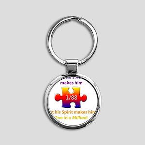 1inMillionlight-uncle-new Round Keychain