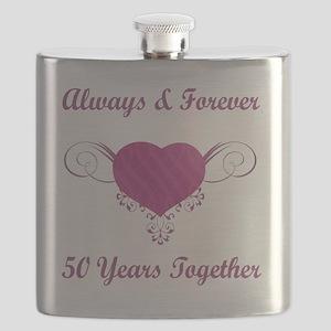 50th Anniversary Heart Flask