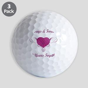 30th Anniversary Heart Golf Balls