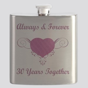 30th Anniversary Heart Flask