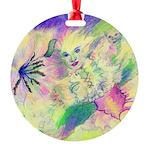 Hidden Fairy Fantasy Art Round Ornament