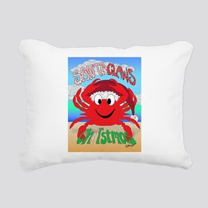 Santa Claws Rectangular Canvas Pillow