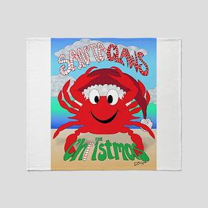 Santa Claws Throw Blanket